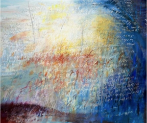 Edge of Elsewhere 2012 180 x 152cm, oil and oil stick on canvas