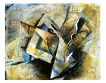 Ursula Kolbe 1990-1999 Watercolour Collages 'Kaleidoscopic Self'. Watercolour on paper
