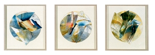 Ursula Kolbe 1990-1999 Watercolour Collages 'Song Cycle I, II, III'. Watercolour on paper