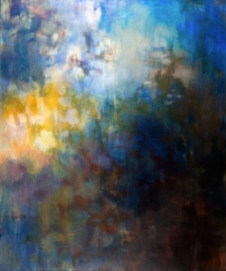 Ursula Kolbe 2007 'Place for Reverie'. Oil, oil stick on canvas 180x152cm