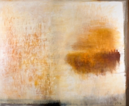 Ursula Kolbe 2008 'Another Horizon'. Oil, oil stick on canvas 152x180cm