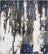 Ursula Kolbe 2007 'Enigma I'. Beeswax, oil, oil stick on board 34x30cm
