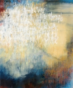 Ursula Kolbe 2007 'Poet in the World: Evening'. Oil, oil stick on canvas 120x100cm