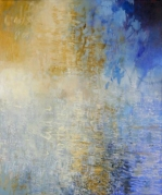 Ursula Kolbe 2007 'Poet in the World: Late Afternoon'. Oil, oil stick on canvas 120x100cm