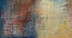 Ursula Kolbe 'Earth Song II'. Oil and oil stick on canvas 60x110cm