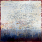 Ursula Kolbe 'Earth Voices I'. Oil and oil stick on canvas 100x100cm