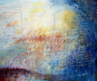 Ursula Kolbe 'Edge of Elsewhere'. Oil and oil stick on canvas 152x180cm