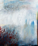 "Ursula Kolbe ' ""We are the Air We Breathe"" - (David Suzuki)'. Oil and oil stick on canvas 180x152cm"