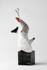 Ursula Kolbe 'Mi Noche Triste XII'. Found materials, mixed media 36x16x16cm