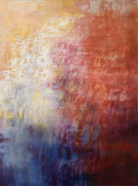 Ursula Kolbe 'Song Fragment'. Oil and oils stick on canvas 100x75cm
